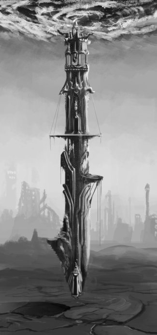 Queen's Tower from The Sun Below: City on the Edge adventure for Numenera
