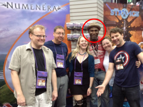 Reece Ambrose with Monte Cook Games at GenCon