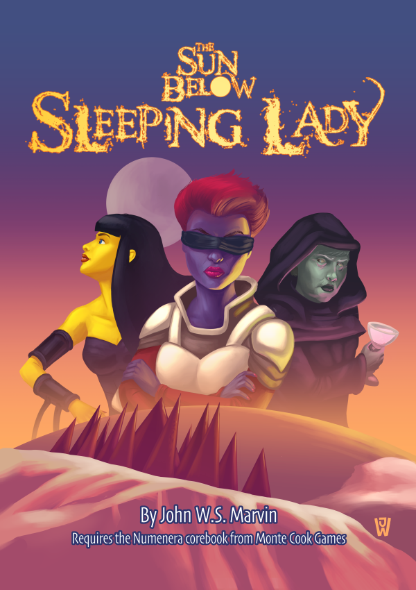 The Sun Below: Sleeping Lady; Numenera adventure; Dread Unicorn Games