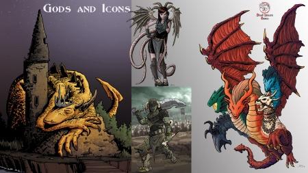 Gods and Icons; Dread Unicorn Games; aurum-rex-akuma-ghiama-tyrvek